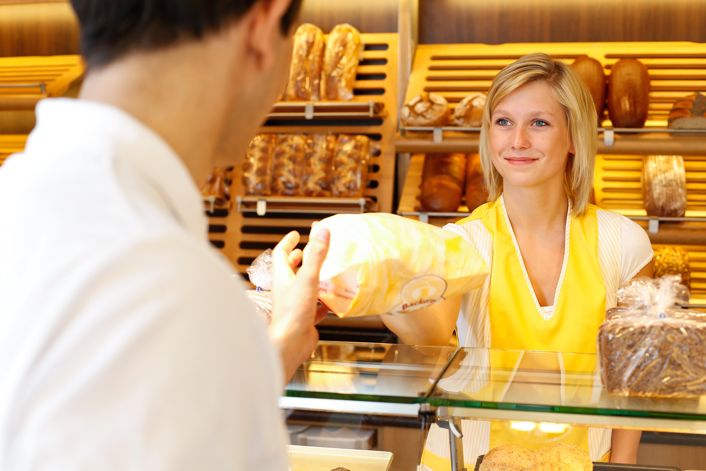 Bäckereiverkäuferin